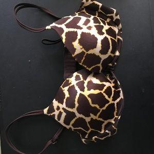 Victoria's Secret Giraffe Design Bra, Sz 34B